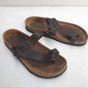 NAOT Gizeh brown leather Sandals 7 7 1/2